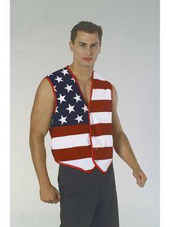 Mens Stars And Stripes American Flag Vest