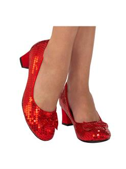 Red Sequin Adult Pump