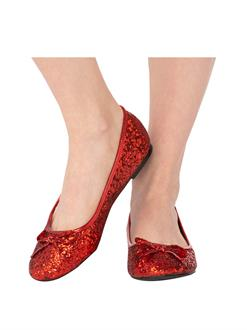 Adult Red Glitter Shoe