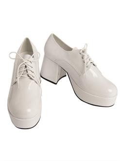 Mens Pimp Platform White Shoes
