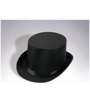 Deluxe Satin Top Hat-Black