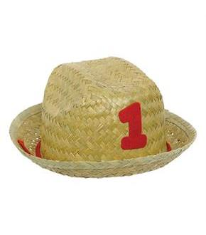 Barnyard Birthday 1st Birthday Straw Hat