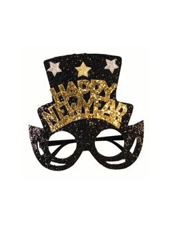New Years Glasses with Top Hat