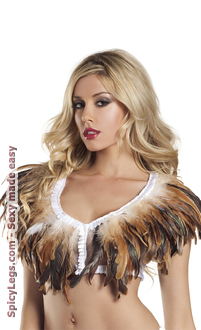 Feather Top With Lace Backing