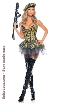 Women's 3 Piece Commando for Halloween