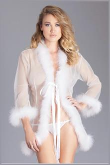 Sheer short length robe