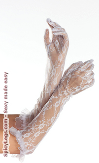 Elbow Length Lace Gloves