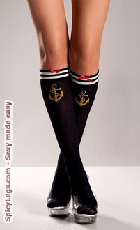 Navy Sailor Socks