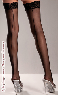 Silicone Stay Up Spandex Thigh Highs
