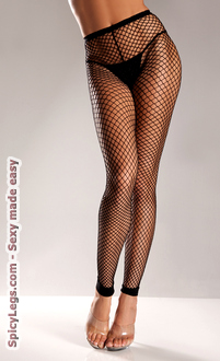 Wide Net Footless Nylon Tights