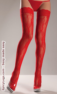 Fancy Lace Nylon Thigh Highs