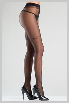 Cross Sheer Pantyhose