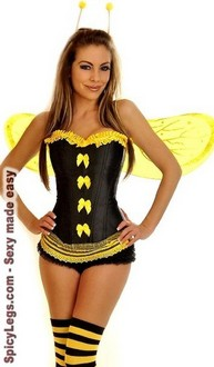 5 PC Sexy Bumblebee Costume
