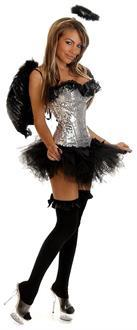 4 PC Sequin Dark Angel Costume
