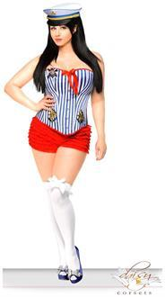 2 PC Pin-Up Sailor Girl Costume