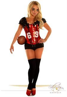 2 PC Sexy Football Fantasy Costume