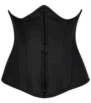Lavish Black Cotton Underbust Corset