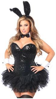 Top Drawer 5 PC Sequin Bunny Corset Costume