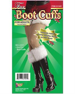 Fur Boot Cuffs - Instantly Adds Some Holiday Style to Any Boot