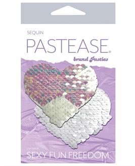 Pastease Color Changing Flip Sequins Heart - Pearl/White
