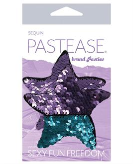 Pastease Color Changing Flip Sequins Starfish - Purple/Turquoise