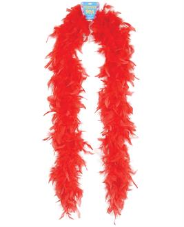 "Feather boa 72"" - red"