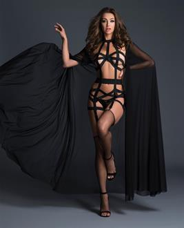 Adore Splash Cape Black