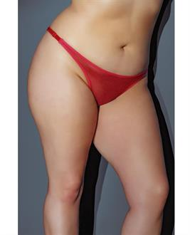 Holiday Adjustable Thong w/Bow in the Back Red