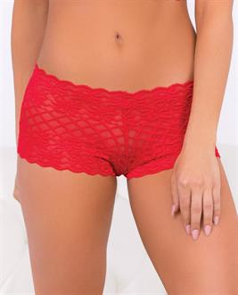 Holiday Lace Boyshort Red