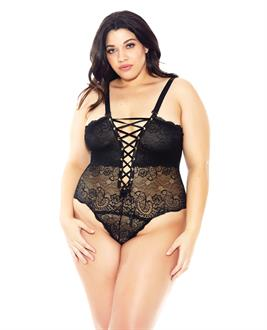 Reversible Lace Teddy Black