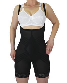 c99bfc3b957 Rago Shapewear Wear Your Own Bra Body Shaper Black - SpicyLegs.com