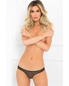 Rene Rofe Pure NV Crotchless Panty Black