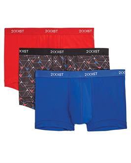 2XIST 3 pk Micro Speed Dri No Show Trunk Red, Black, and Blue