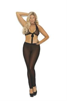 Mesh leggings with elastic waist band - Plus