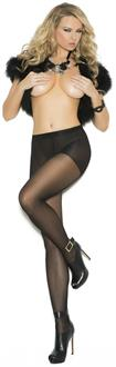 Sheer pantyhose with woven lace back seam.