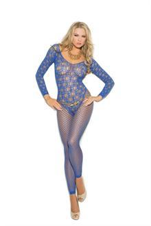 Long sleeve crochet bodystocking