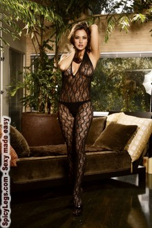 Bodystocking with open crotch
