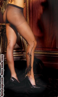Tiger print sheer pantyhose