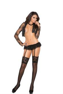 Sheer thigh hi with 5 inch lace top