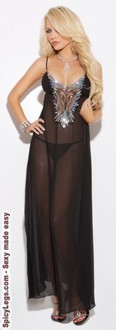 Chiffon gown with matching g-string
