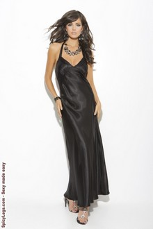 Satin halter neck gown