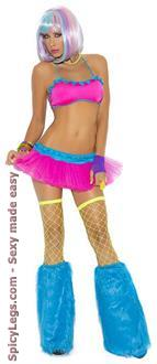 Neon Nites Lycra Bra Top with Matching Tutu Skirt
