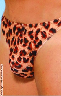 Alluring Leopard thong