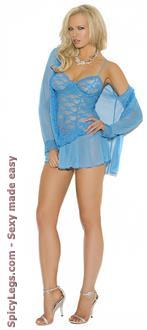 3PC Lace Babydoll with Matching G-string Set