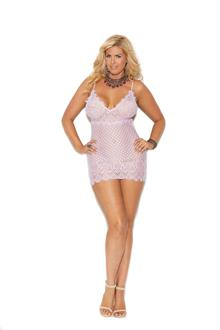 Diamond design babydoll with open back - Plus