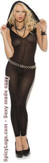 Opaque Footless Bodystocking