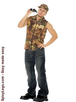 2 pc Rack Hunter Costume