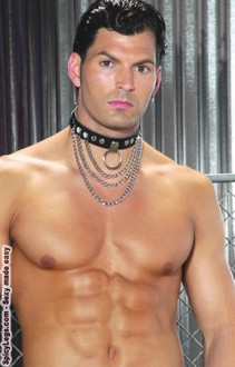 Leather collar with chains & O ring