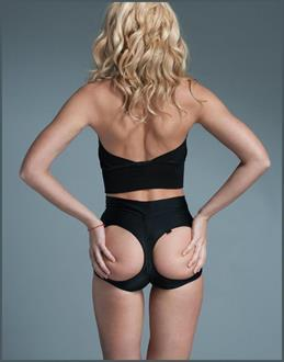 Butt Out Butt-Lifter High Waisted Lycra Panties Black