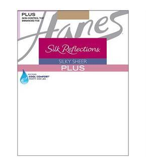 Hanes Silk Reflections Plus Enhanced Toe Sheer Pantyhose